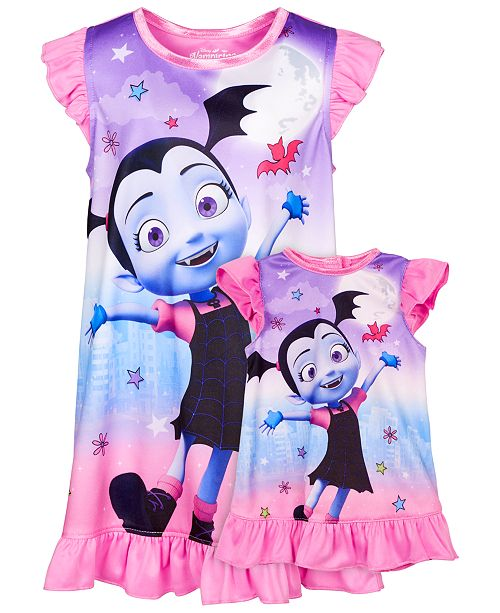 AME Toddler Girls 2-Pc. Vampirina Graphic Nightgown & Doll Nightgown Set