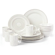 Charlotte Street West Grey 16-PC Dinnerware Set, Service for 4