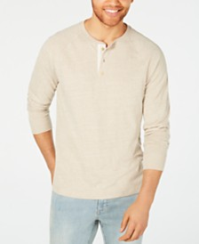 American Rag Men's Heathered Long-Sleeve Henley, Created for Macy's