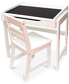 Child's 2-Pc. Desk Set with Chalkboard Top & Chair