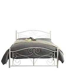 Eugene White Metal Platform Bed, Full