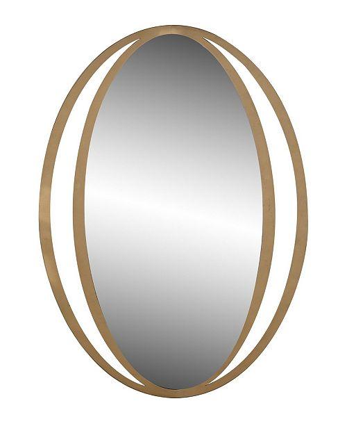 Rosemary Lane Contemporary Iron Framed Wall Mirror
