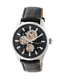 Heritor Automatic Stanley Genuine Leather Watch 43mm