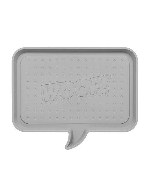 "IRIS USA Medium ""Woof"" Feeding Mat for Dog or Cat"