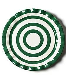 by Laura Johnson Spot On Ruffle Round Platter
