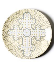 by Laura Johnson Cobble Neutral Cross Dessert Plate