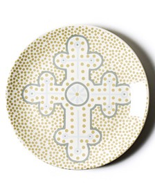 Coton Colors Cobble Neutral Cross Dessert Plate