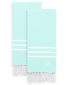 Personalized Alara Turkish Pestemal 2-Pc. Hand Towel Set