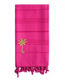 Summer Fun Breezy Palm Tree Pestemal Beach Towel