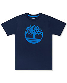 Timberland Big Boys Alton Big Tree Logo T-Shirt