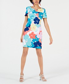 Trina Trina Turk Floral-Print Shift Dress