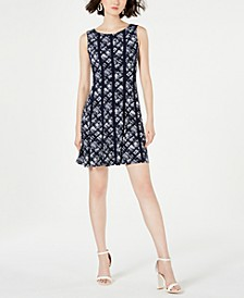 Petite Printed Stretch Dress