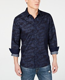 American Rag Men's Camo Denim Shirt, Created for Macy's