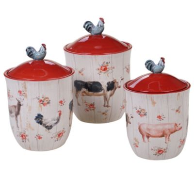Farmhouse Canisters, Set of 3