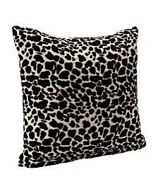 "Siscovers Big Cat Black Animal Print 16"" Designer Throw Pillow"