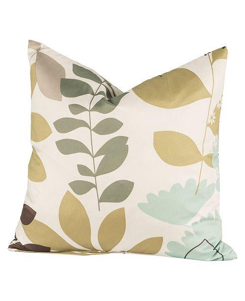 """Siscovers English Garden 20"""" Designer Throw Pillow"""