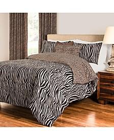 Zebra Zen 6 Piece Full Size Luxury Duvet Set