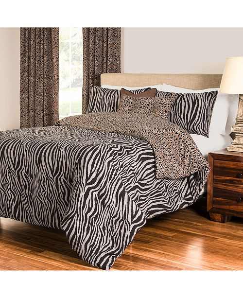 Siscovers Zebra Zen 6 Piece Queen Luxury Duvet Set