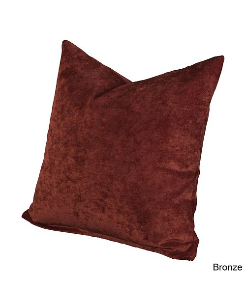 "Siscovers Padma Bronze 20"" Designer Throw Pillow"