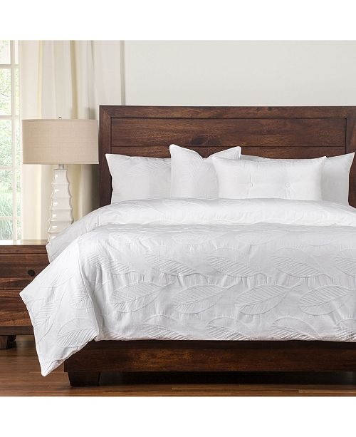 Siscovers Cabo White 5 Piece Twin Luxury Duvet Set