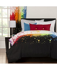 Cosmic Burst 6 Piece Full Size Luxury Duvet Set