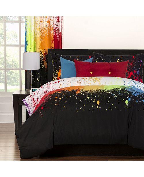 Crayola Cosmic Burst 5 Piece Twin Luxury Duvet Set
