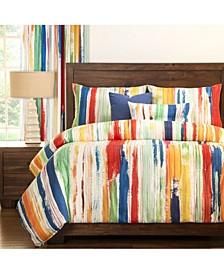 Sketchy Stripe 6 Piece Queen Luxury Duvet Set