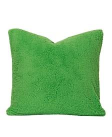 "Playful Plush Jungle Green 16"" Designer Throw Pillow"