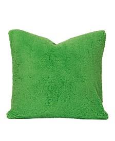 """Crayola Playful Plush Jungle Green 16"""" Designer Throw Pillow"""