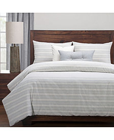Siscovers Cottage Pewter Farmhouse 6 Piece Cal King High End Duvet Set