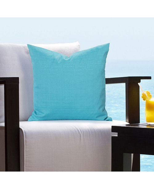 """Siscovers Tropical Turqoiuse 16"""" Designer Throw Pillow"""
