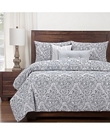Misty River 6 Piece Cal King High End Duvet Set