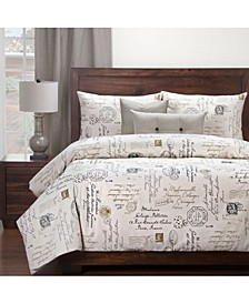 Postscript Linen 6 Piece Cal King High End Duvet Set
