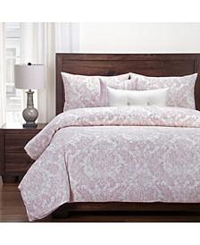Parlour Rose 6 Piece Queen Luxury Duvet Set