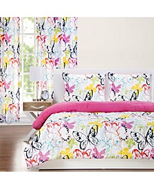Flutterby 5 Piece Twin Luxury Duvet Set