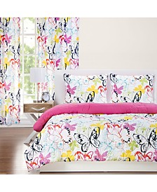 Crayola Flutterby 5 Piece Twin Luxury Duvet Set