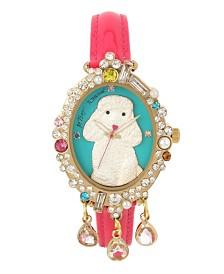 Betsey Johnson Poodle Motif Dial Watch