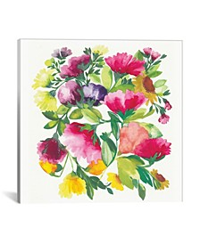 """""""Peonies"""" By Kim Parker Gallery-Wrapped Canvas Print - 12"""" x 12"""" x 0.75"""""""