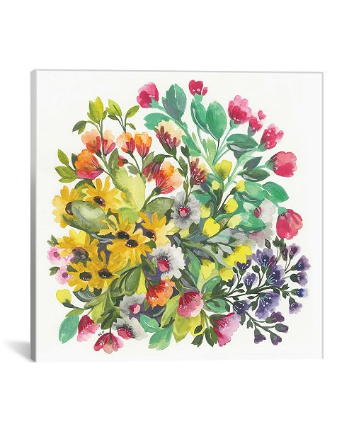 """iCanvas """"Wildflowers"""" By Kim Parker Gallery-Wrapped Canvas Print - 12"""" x 12"""" x 0.75"""""""