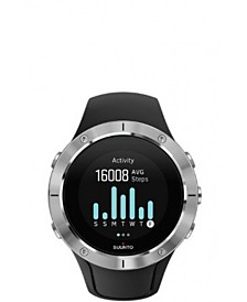 Suunto Spartan Trainer Wrist HR, Steel Black Silicone Band, Stainless Steel Bezel, with a Digital Dial