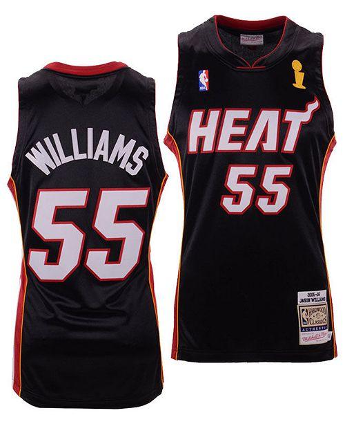 new style 51356 788ce Men's Jason Williams Miami Heat Authentic Jersey