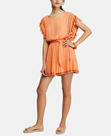 Free People Weekend Brunch Embroidered Mini Dress