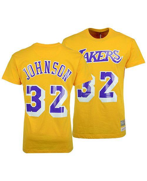 6dfe85380 ... Mitchell   Ness Big Boys Magic Johnson Los Angeles Lakers Hardwood  Classic Player T-Shirt ...
