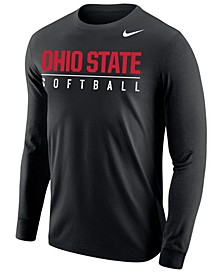 Men's Ohio State Buckeyes Core Softball Long Sleeve T-Shirt