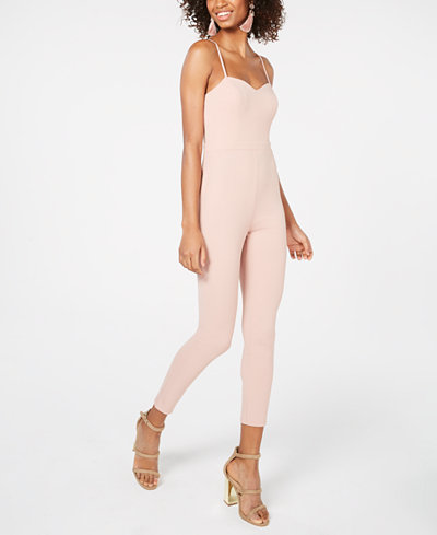 Material Girl Juniors' Sweetheart Jumpsuit, Created for Macy's