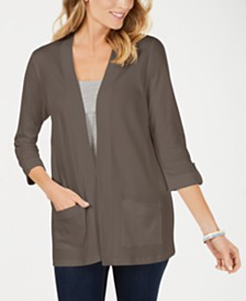 Karen Scott Petite Cotton Cardigan, Created for Macy's
