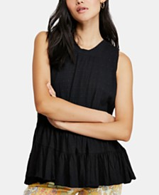 Free People Right On Time Tiered Tie-Back Sleeveless Tunic