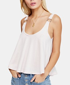 Free People Carly O-Ring Scoop-Back Tank Top