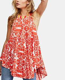 Mimi Printed High-Low Halter Tunic