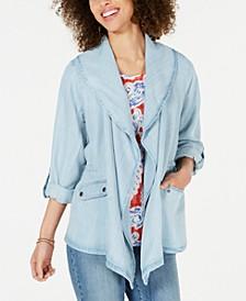 Draped Chambray Jacket, Created for Macy's